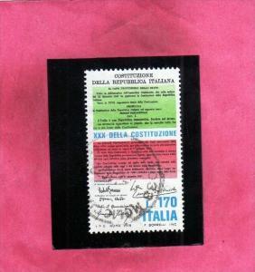 ITALIA REPUBBLICA ITALY REPUBLIC 1978 XXX 30° ANNIVERSARIO DELLA COSTITUZION...