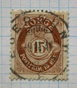 Norway sc#52 used stamp 15o ore
