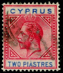 CYPRUS SG93, 2pi carmine & blue, USED. Cat £27.