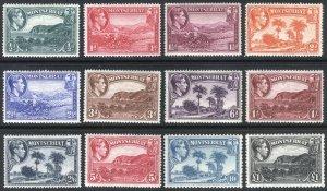 Montserrat 1941 1/2d-£1 Pict Perf14&12 SG 101-112 Scott 92-103 MLH Cat £95($124)