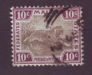 J16762 JLstamps 1901 malaya used #23a tiger wmk 2