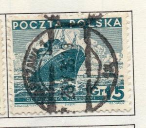 Poland 1935-39 Early Issue Fine Used 15g. 190887