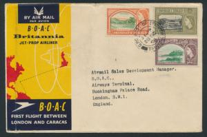 1958 BOAC First Flight Cover Port of Spain - London  SPECIAL - please read de...