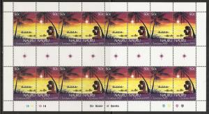 Nauru 312a 311-2 1985 Christmas m/s MNH