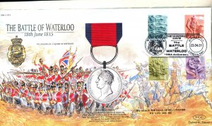 Great Britain Beautiful Waterloo Anniv Cover Signed