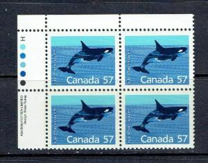 CANADA - 1988 KILLER WHALE - HARRISON PAPER - ULPB - SCOTT 1173i - MNH