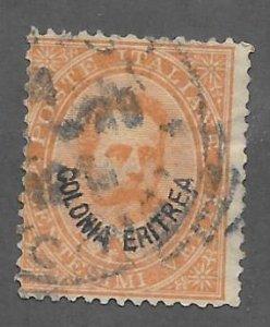 Eritrea Scott #16 Used 20c O/P stamp 2018 CV $3.25