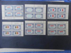 #'s 909-921 XFNH Plate Blocks...Complete Set