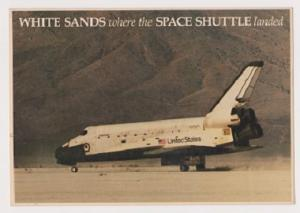 Unused Postcard: Space Shuttle Columbia Landing at White Sands Missile Range