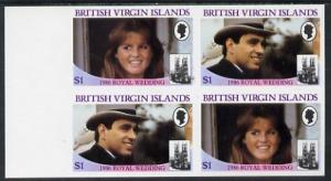 British Virgin Islands 1986 Royal Wedding $1 in unmounted...