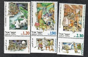 Israel #1393 - 1395 Fairy Tails MNH Singles with tab