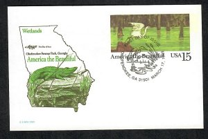 UX129 Okefenokee Swamp postal card Unaddressed Artmaster FDC