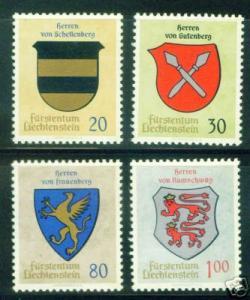 LIECHTENSTEIN Scott 396-99 Coat of Arms MNH** set