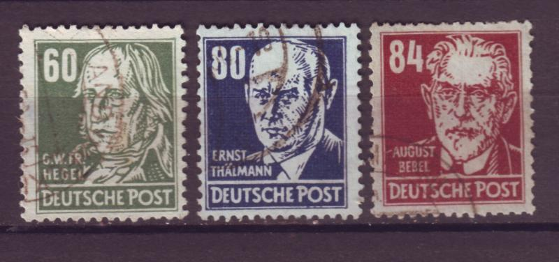 J10933 JL Stamps 1948 Russia ocup,t germany ddr used wmk 292