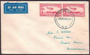 NEW ZEALAND 1937 First flight cover Greymouth to Auckland..................34887