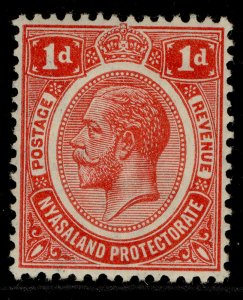 NYASALAND PROTECTORATE GV SG86, 1d scarlet, M MINT.
