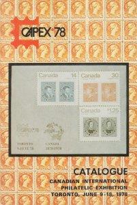 CAPEX '78 Catalogue. 1978 Canadian International Philatelic Exhibition, Toronto