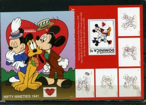 DOMINICA 1997 Sc#1935-1936 WALT DISNEY SEALED WITH A KISS SET OF 2 S/S MNH
