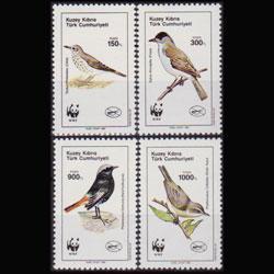 TURKISH-CYPRUS 1990 - Scott# 273-6 WWF-Birds Set of 4 NH