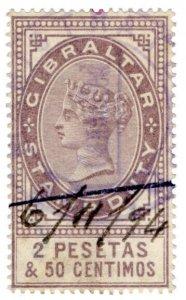 (I.B) Gibraltar Revenue : Duty Stamp 2P 50c
