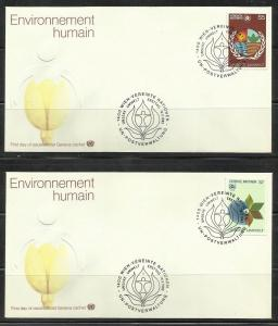 UN Vienna 1982 Human Environment Scott# 25 to 26 FDC