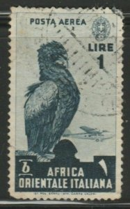 Italy Colony East Africa Air Post 1938 1L Used A18P18F934