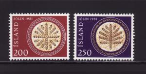 Iceland 550-551 Set MNH Christmas (A)