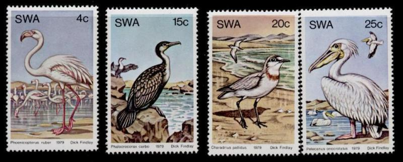 South West Africa 429-32 MNH Birds, Flamingoes, Water Birds