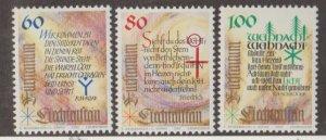 Liechtenstein Scott #1013-1014-1015 Stamps - Mint NH Set