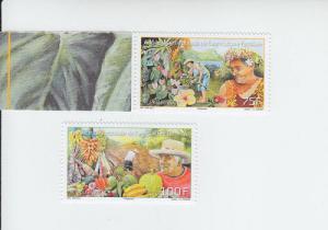 2014 Fr Polynesia Agriculture (2) (Scott 1121-22) MNH