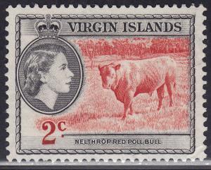 British Virgin Islands 117 Nelthrop Red Poll Bull 1956