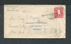 Postal History - Lansing MI 1905 Black Reverse Numeral Duplex Cancel Hand B0681