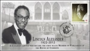 CA18-004, 2018, Black History, Lincoln Alexander, Day of Issue, FDC,