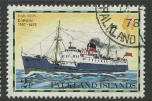 Falkland Is.- Scott 261 - Ships Issue - 1978 - VFU - Single 2p Stamp