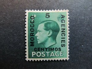 A4P9F13 Great Britain Offices in Morocco 1936 5c on 1/2p mint no gum