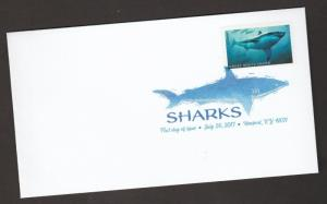 US 5227 Sharks Great White Shark DCP FDC 2017