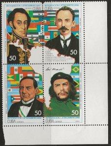 CUBA SC # 3529 - 3532a   MNH
