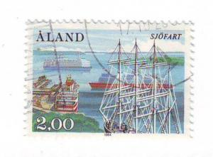 Aland Sc 23 1984 ships Ferries Harbour stamp used