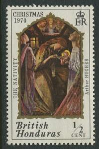 British Honduras.- Scott 263 - Christmas -1973 - Mint -Single 1/2c Stamp