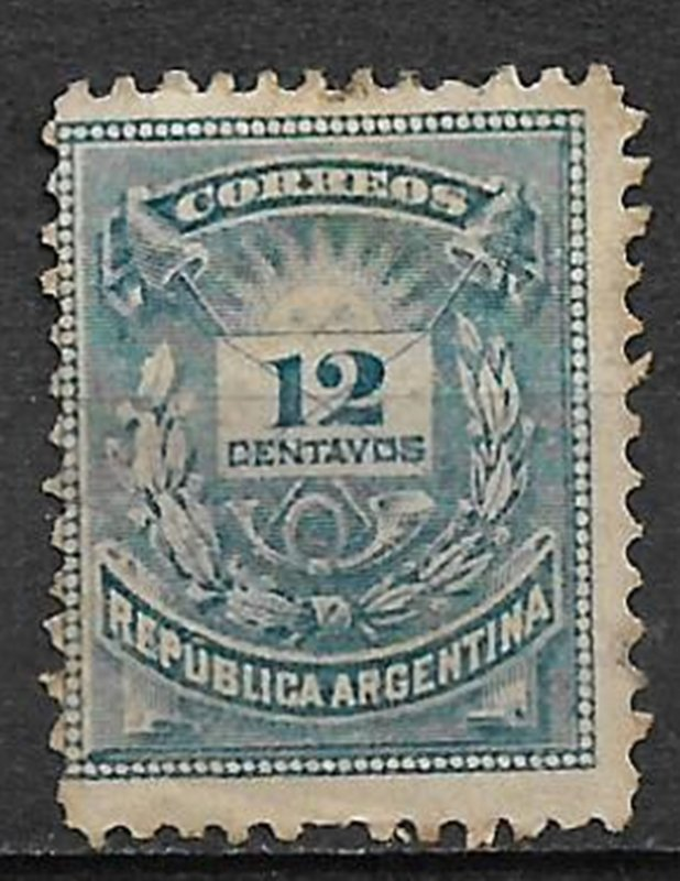 COLLECTION LOT #770 ARGENTINA # 45 UNUSED NO GUM 1882 CV = $90