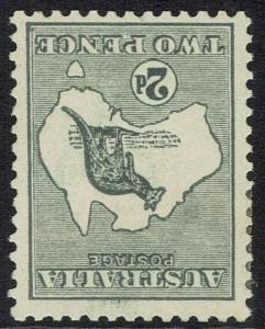 AUSTRALIA 1915 KANGAROO 2D 3RD WMK INVERTED