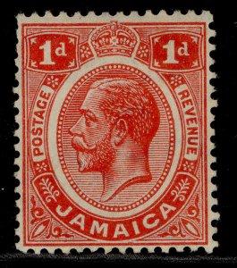 JAMAICA GV SG58a, 1d scarlet, UNUSED. Cat £11.