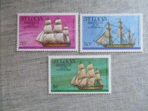 St.Lucia, Scott#384-386, MNH