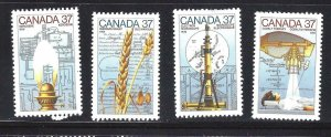 Canada SCIENCE & TECHNOLOGY #3 CANADA DAY SCOTT 1206-1209 MINT NH (BS13728)