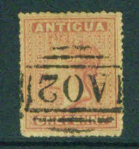 ANTIGUA  Scott 2 star watermark 1863 CV $50
