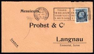 Belgium Stamp  50C STAMP COVER