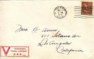 1941, Toledo, OH to Los Angeles, CA, Solo 15c Prexie (26705)