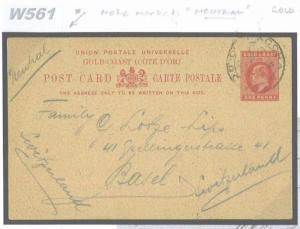 W561 1914 GOLD COAST WW1 Accra Endorsed 'Neutral' m/s/Switzerland Basle