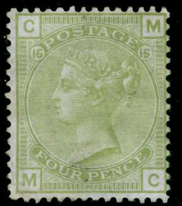 SG153, 4d sage-green plate 15, M MINT. Cat £1600. MC
