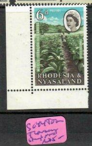 RHODESIA & NYASALAND (P0806B)  QEII   6D TOBACCO   SG 44  TORN PANTS MNH